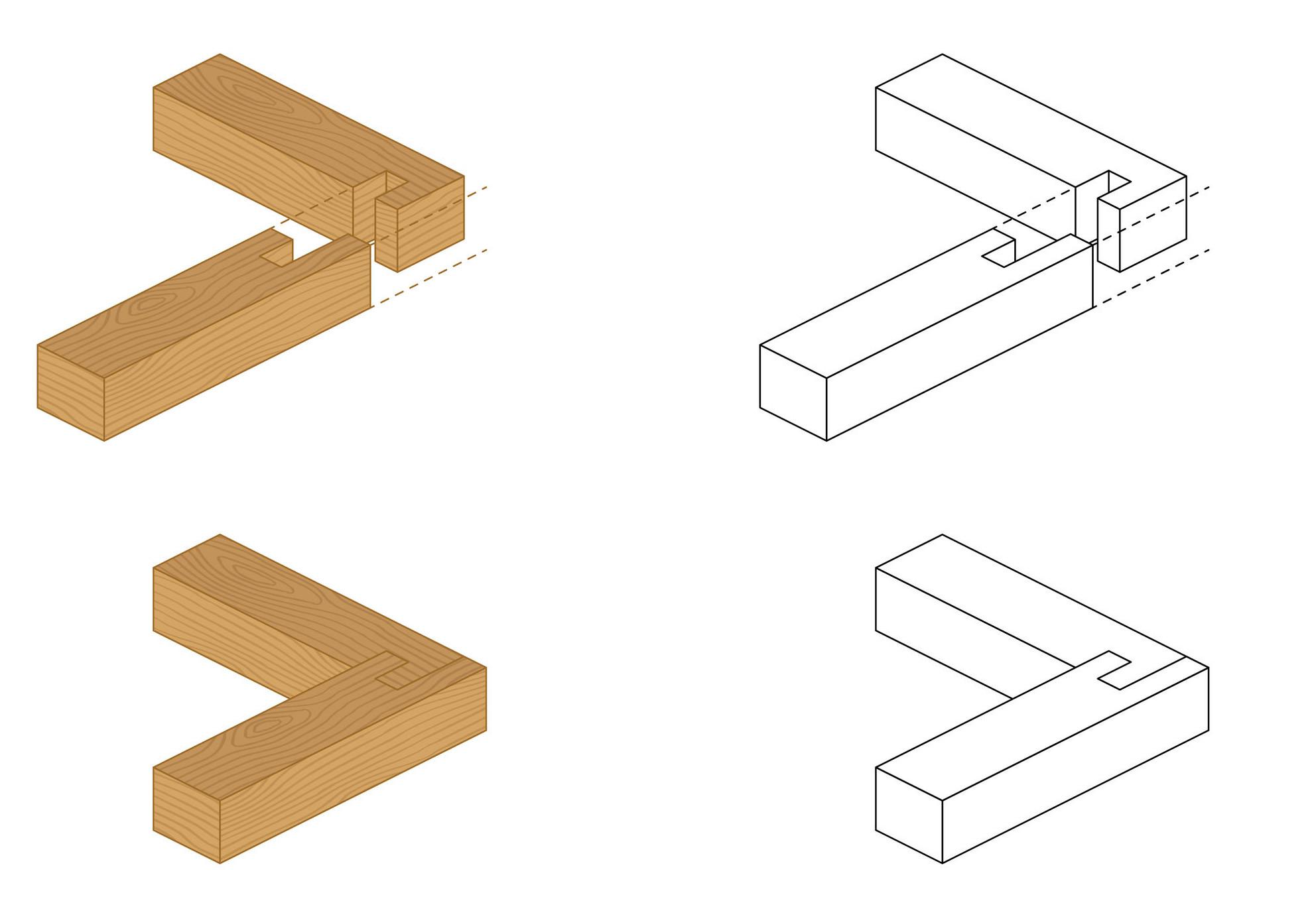Eck-Holzverbindung