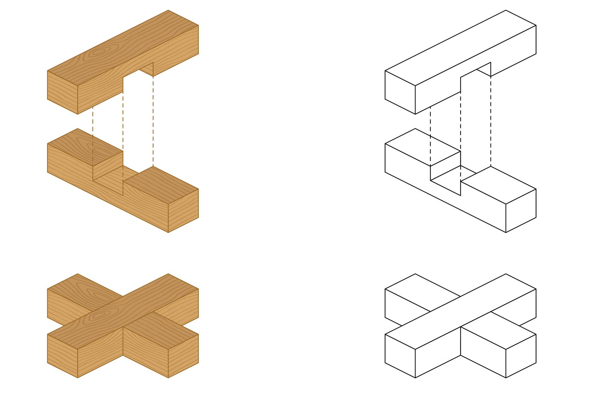 Kreuz-Holzverbindung