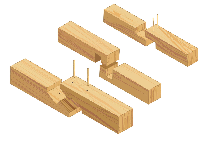 Längsverbindungen Holz